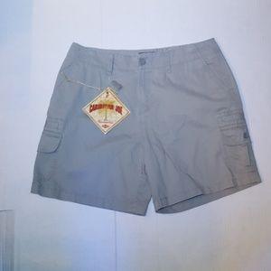 Caribbean Joe Gray Khaki Cargo Shorts NWT Size 12